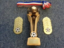 Football Trophy inc 10 x Gold Medals (Party/Celebration/ Presentation Pack)