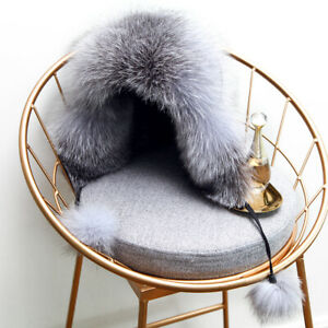 Real Fox Fur Hat Russian Ushanka Hat Winter Aviator Trapper Adjustale Cap Bomber
