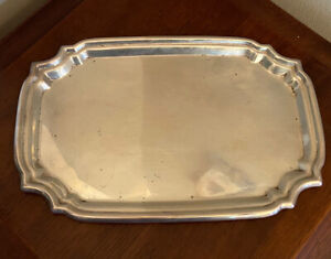 """Sterling Silver by Poole 179 grams Vintage 8.75"""" X 5.75"""" Tray"""