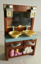 Loving Family Bathroom Sink Vanity Doll House Bathroom Furniture t5