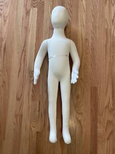"""Full body jersey covered flexible children mannequin Dress Form Display 38"""" tall"""