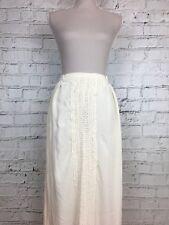 Atmosphere Long Skirt Cream Crochet Detail Panel Elasticated UK 8 US 4
