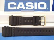 Casio Watch Band AQ-100, MRD-201 black Resin gold tone buckle.Watchband/Strap