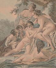 Gravure XVIIIe, François Boucher. Engraving, Incisione, Kupferstich, 18th.