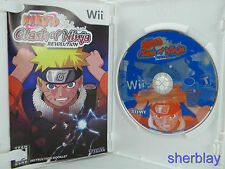 Naruto: Clash of Ninja Revolution (Nintendo Wii, 2007) Complete Scratches Works