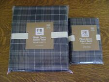 Pottery Barn Teen Classic Plaid Organic DUVET COVER TWIN  & P-CASES ~ SET/3