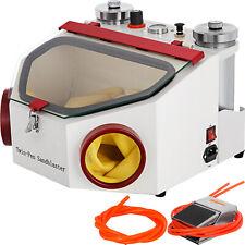 Twin Pen Sandblaster Double Pen Sand Blaster Machine For Dental Lab 2 Tanks Lamp