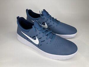 Nike SB Nyjah Free Skateboard Shoes Blue White AA4272-400 Men's Size 10.5