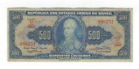 500 Cruzeiros Brasilien 1961 C046 / P.172a - Brazil Banknote