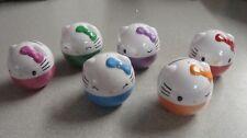 Hello Kitty Coin Capsule and Charm Set of 6 Tomy Gacha Keychain Charm Danglers