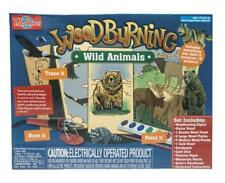 Wood Burning Creations Kit, Wild Animals Edition, Hobbies Crafts, 10 Projects