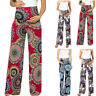 Maternity Women's  Floral Easy Pants Pregnancy Trousers Wide Leg Soft Pregnant