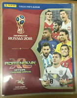 panini adrenalyn xl fifa world cup russia 2018 album with 47 stickers
