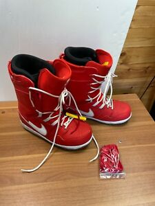 Nike Red Boots Nike Vapen Snowboard With Box Size 10 UK