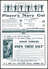 1916 - Antique Print ADVERTISING Players Navy Cut Enos Fruit Salt   (034)