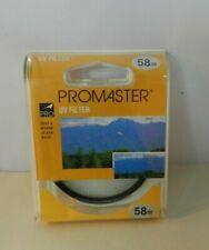 ProMaster 58mm UV Haze Filter Clear Circular #4388 New