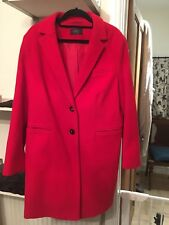 Ladies Red Wool Coat Size 16 With Cashmere Marks and Spencer Perfect Condition.