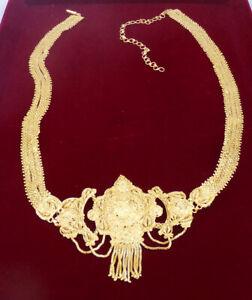 Ethnic Saree Wear Hip Waist Belt Golden Indian Bridal Chain Kamr Bandh Jewelry
