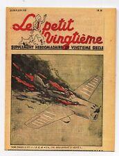 Carte Postale Tintin. Le Petit Vingtième n°23 du 9 JUIN 1938 - avion en feu