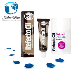 Refectocil Eyebrow Brown Tint or + Oxidant Cream Developer Eyelash Dye KIT