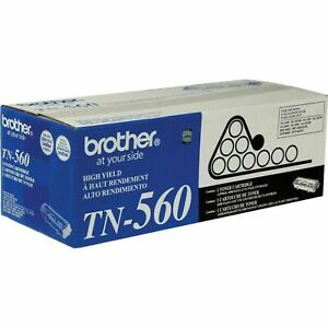 Genuine Brother TN 560 Black Toner Cartridge, High Yield
