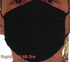 Copri Bocca e Naso 5 PCS nera 100%Cotone