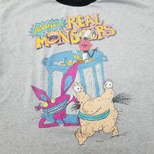 87acebb008d Anuncio nuevoRetro 90s Nickelodeon Talla XL timbre AHH! monstruos reales  Camisa Gráfico de dibujos animados