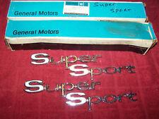 1967 67 NOS CHEVELLE SUPERSPORT SS REAR QUARTER EMBLEMS GM NOS 4229717