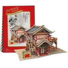 Chinese Wine Shop Puzzle Boys Girls Model Paper DIY Educational Toys