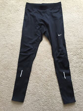 Nike Dri-Fit Thermal Men's Running Tights Size Small Black Cold Weather Track