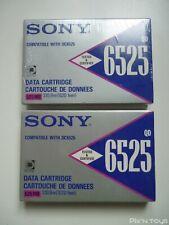 Lot de 2 cartouches de données 525MB Sony QD 65025 compatible DC6525