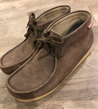 Clarks Mens Wallabee Boots Size 9.5 Brown Casual Leather