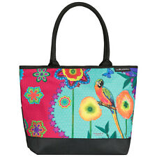 Borsa Colorato Arte DA DONNA SHOPPER BAG EVA Maria Nitsche Parrot in Paradise 4206