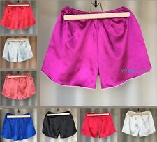 Womens Satin Silk Shorts Knickers Lingerie Night Underwear Panties Briefs Boxer