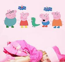 3D peppa pig kids room decor sticker girl wall decals Nursery Mural gift