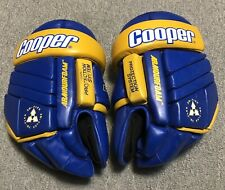 Vintage Cooper HGL 1000 ST Louis Blues Yellow Trim Hockey Gloves Adult Large