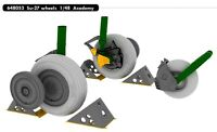 Eduard Brassin 1/48 Sukhoi Su-27 Wheels for Academy kit # 648053