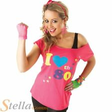 I Love The 80s Pink Med 10 - 12 Costume T-shirt