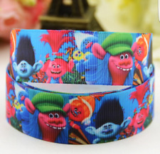 1 meter of Trolls Character 25mm Grosgrain Ribbon for card Making or Bows