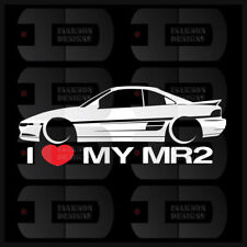 I Heart My MR2 Sticker Love Toyota Slammed W20 Bagged 2nd Gen Stance Static