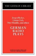 German Library: German Radio Plays : Jurgen Becker, Gunter Eich, Peter...