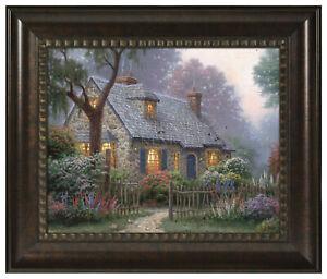 Thomas Kinkade Foxglove Cottage 16 x 20 Brushstroke Vignette (Choice of Frame)