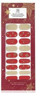 AVON FMG Glimmer Gel Nail Stickers Holly Berry Red Holiday Christmas NEW