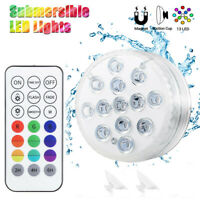 Submersible Pond Lights Remote Control 13 LED Bright RGB LED Light Waterproof