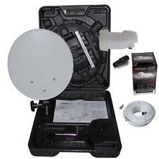 Camping  SAT Anlage im Koffer mit Satfinder und Befestigung LKW Mobil LNB 0,1 dB