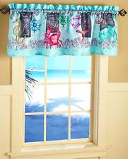 Tropical Window Valance For Bathroom Decor Ideas Crab Seahorses Starfish Turtle