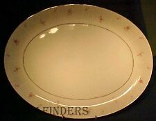"""MIKASA china AMY 8440 pattern OVAL SERVING PLATTER 16-3/8"""" inches"""