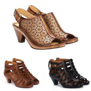 Womens Pikolinos Sandals Java Leather Sandals Gladiator Style Medium Heel NEW