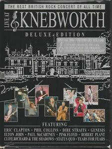 Live At Knebworth Coffret 2 Cd + 2 Dvd Deluxe Edition Clapton Collins Pink Floyd