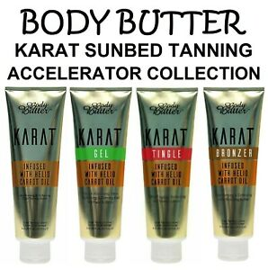 Body Butter Karat Sunbed Tanning Accelerator Lotions with Carrot Oil + Free Gift